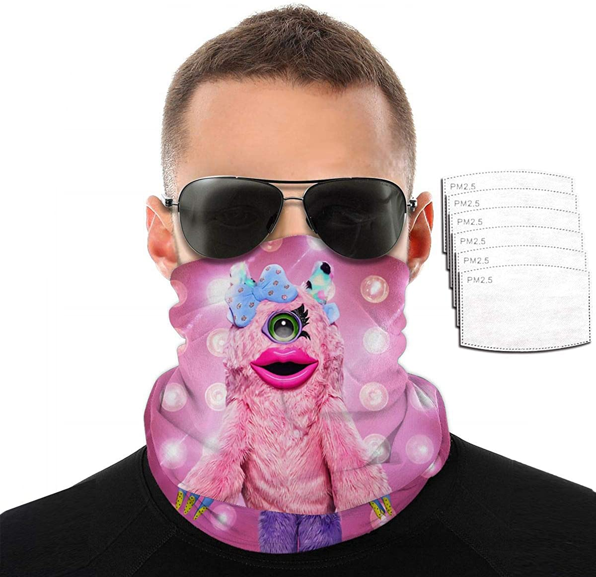 Masked Singer Seamless Turban Face Mask Mouth Multifunctional Full-Covering Tube Turban