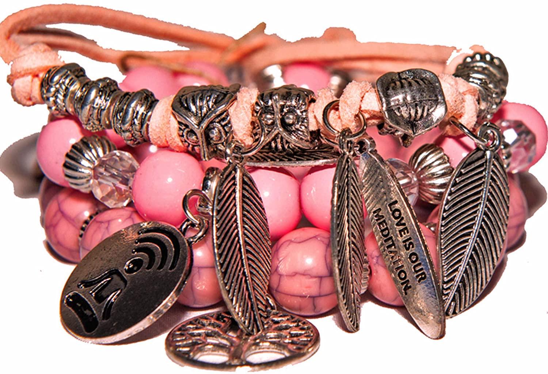 Charm bracelets, 3 set bracelets, Couples meditation, distance, love bracelets, Mindfulness bracelets, Meditation set bracelet unisex; Boho stacked fashion bracelets unisex, Beaded yoga for men, women, Multiuse adjustable bracelet, Bracelets sets, Unisex bracelet, Boxed jewelry set, Mindfulness gift, Yoga bracelets, Men's bracelets, Mens gifts, Stretch bracelets, Bracelets with charm, Fashion bracelets unique, Yoga bracelets, Multicolor bracelets for her, him