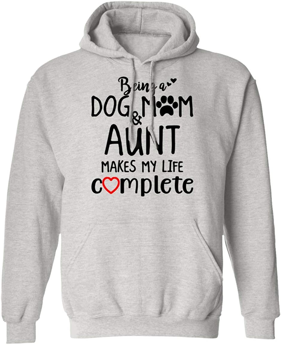 VTMMO Being A Dog Mom and Aunt Makes My Life Complete Aunt Shirt Hoodie
