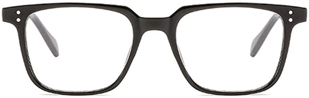 Unisex Glasses Frame Fashion Bright Black White Square Full Frame Decoration Prescription Glasses