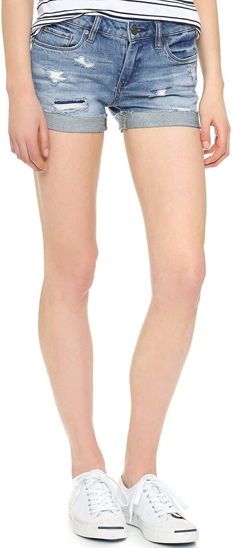 [BLANKNYC] Women's Denim Distressed Cuffed Short