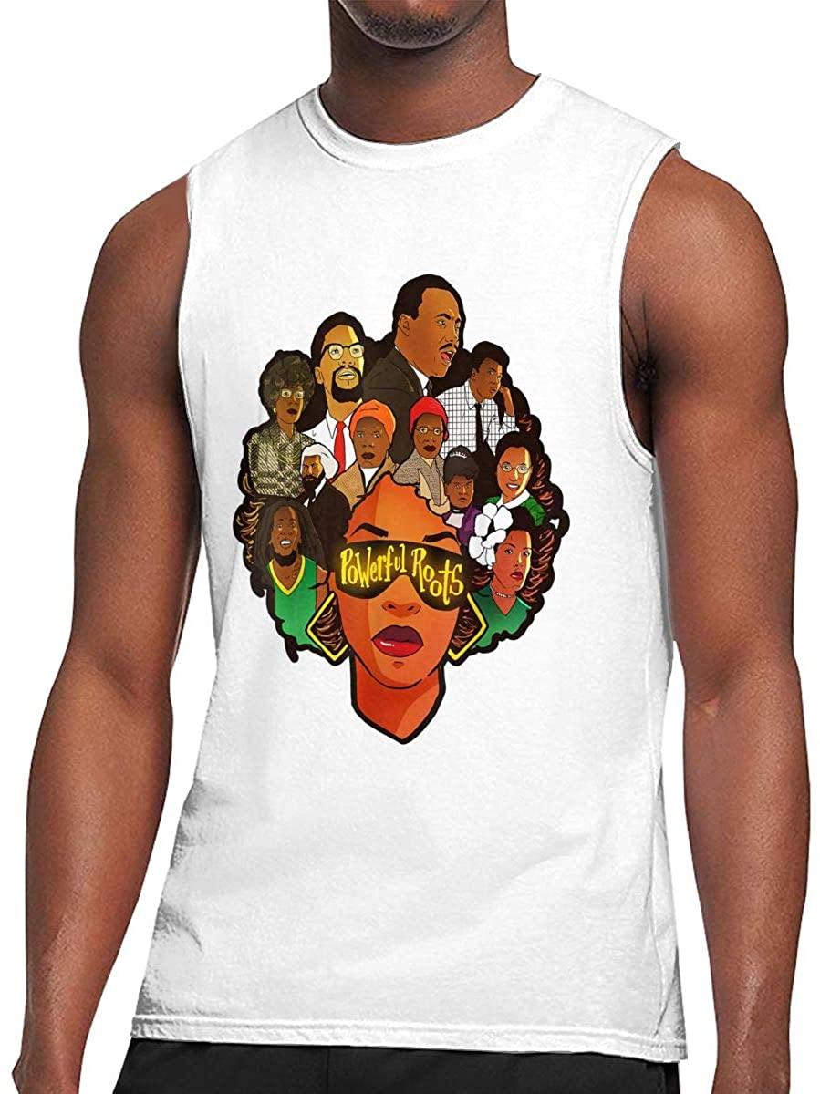 Black Lives Matter I Love My Roots Man Sleeveless Tee Fashion Tank Top