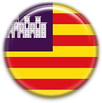 Baleares : Spanish Autonomous Community Flag, Pinback Button Badge 1.50 Inch (38mm)