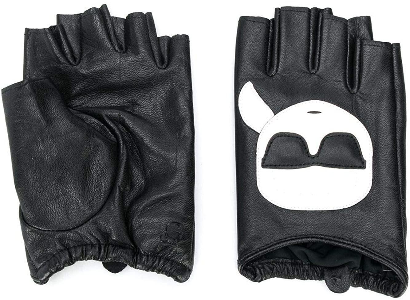 Luxury Fashion | Karl Lagerfeld Woman 20KW201W3612BLACK Black Leather Gloves | Spring Summer 20