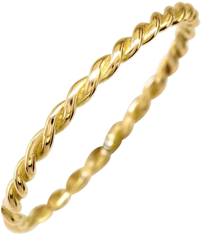 SZIRO Thin Rope Ring in 14K Yellow Gold