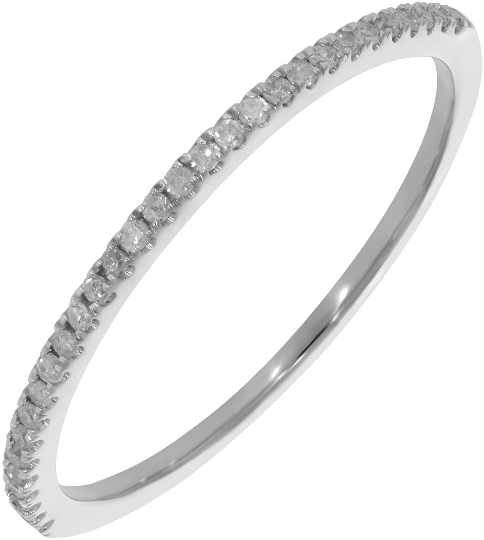 Prism Jewel 1.55 mm 0.15Ct Round Natural White Diamond Anniversary Band