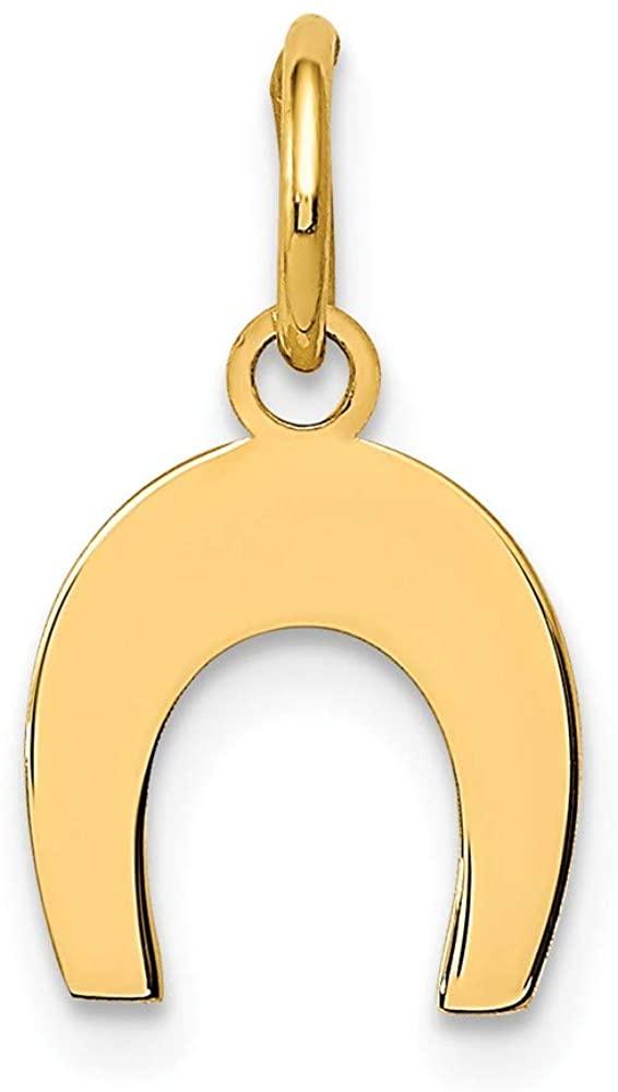 14k Yellow Gold Horseshoe Charm