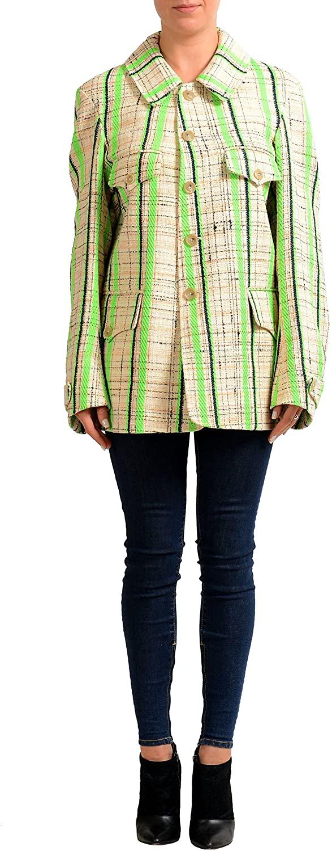 Maison Margiela 1 Multi-Color Checkered Women's Basic Coat US S IT 40