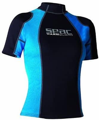 SEAC Sub Black/Blue Rash Warm Guard Lady Short, Size Medium