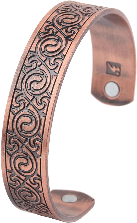 Dawapara Vintage Irish Celtic Knot Spiral Swirl Magnetic Health Cuff Bracelet Men Women Gift Jewelry