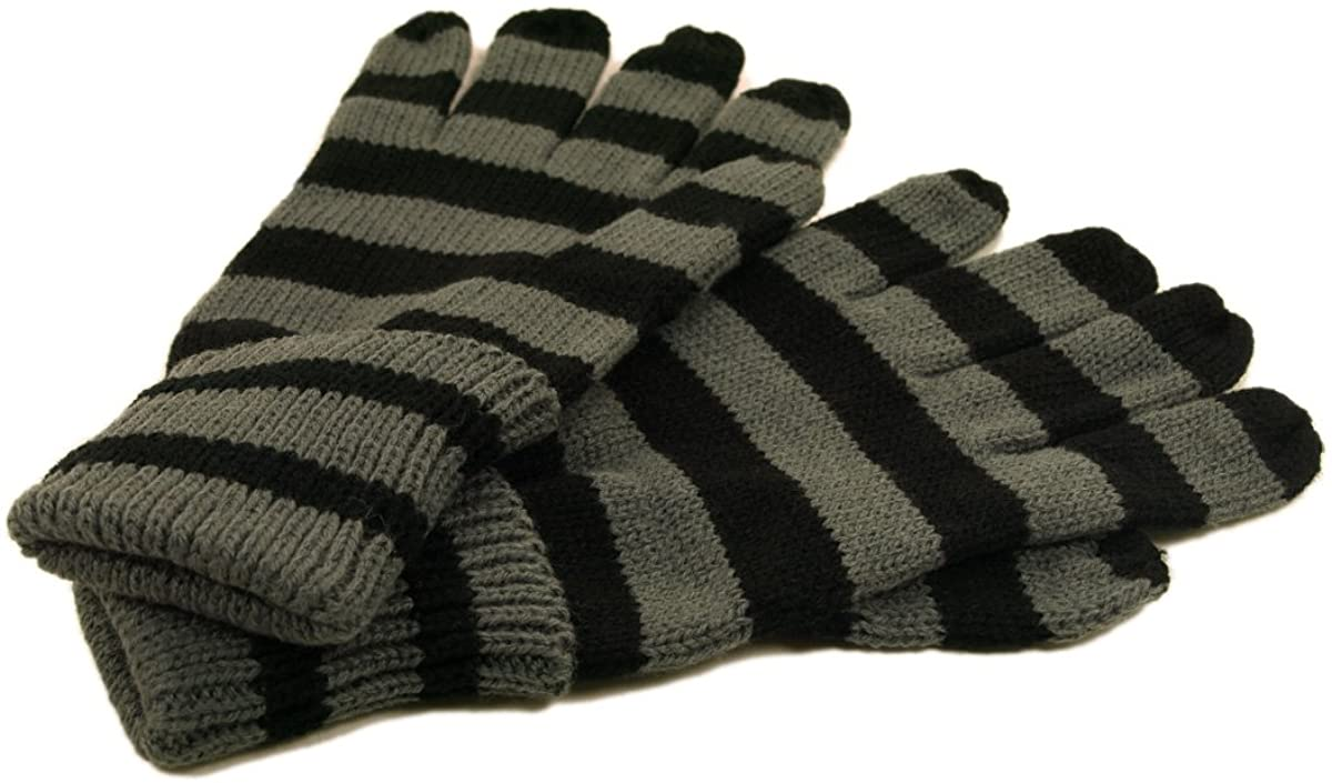 Soft Knit Women's Striped Gloves - Different Colors Available