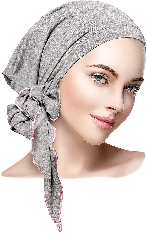 ShariRose Pre-Tied Head-Scarf Tichel Cotton Boho Chic Decorative Over-Lock Collection