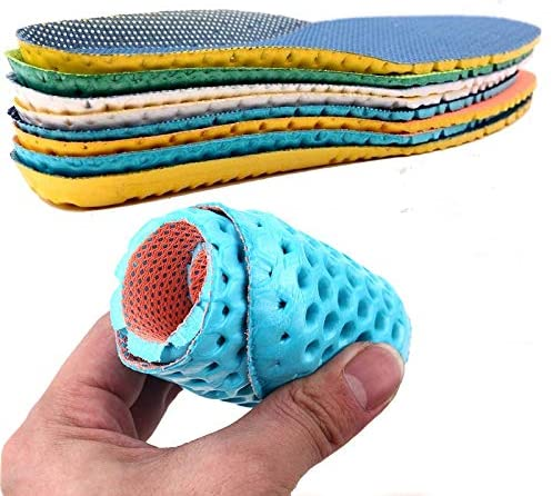 Athletic Insole Breathable and Elastic can be Tailored Freely for Both Men and Women (Sapphire Blue, 44)