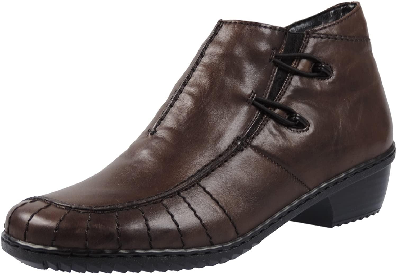 Rieker women zipper boots black