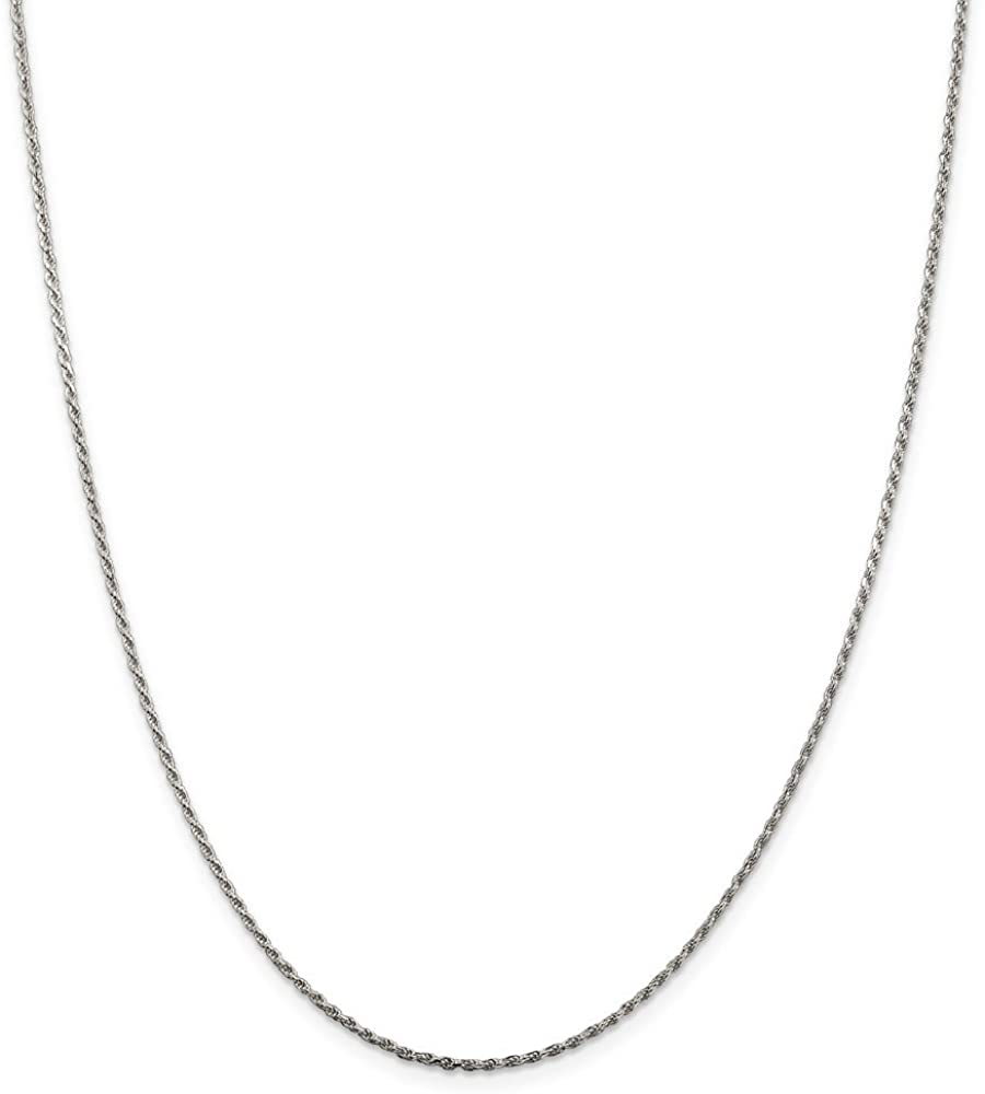 925 Sterling Silver 1.5mm Link Rope Chain Necklace 24 Inch Pendant Charm Fine Jewelry For Women Gifts For Her
