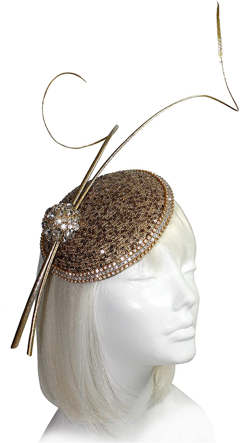 Mr. Song Millinery All-Season Derby/Ascot All-Season Profile Petite Dish Fascinator Headband - AF683