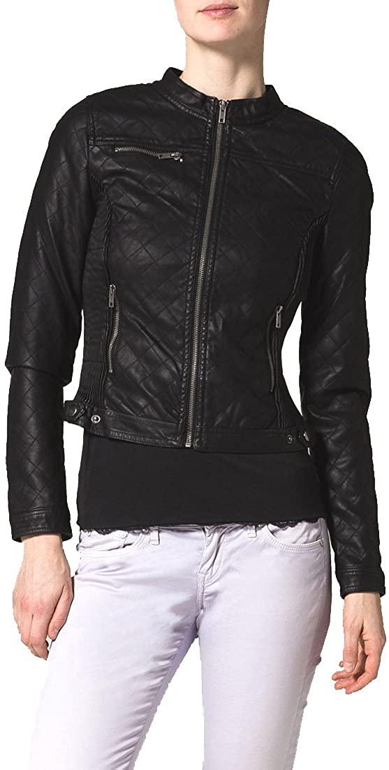 New Women Motorcycle Lambskin Leather Jacket Coat Size XS S M L XL NLT026