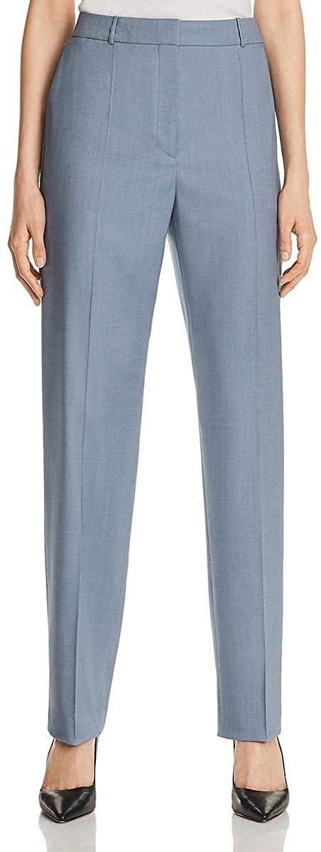 Hugo Boss BOSS Womens Wool High Rise Straight Leg Pants