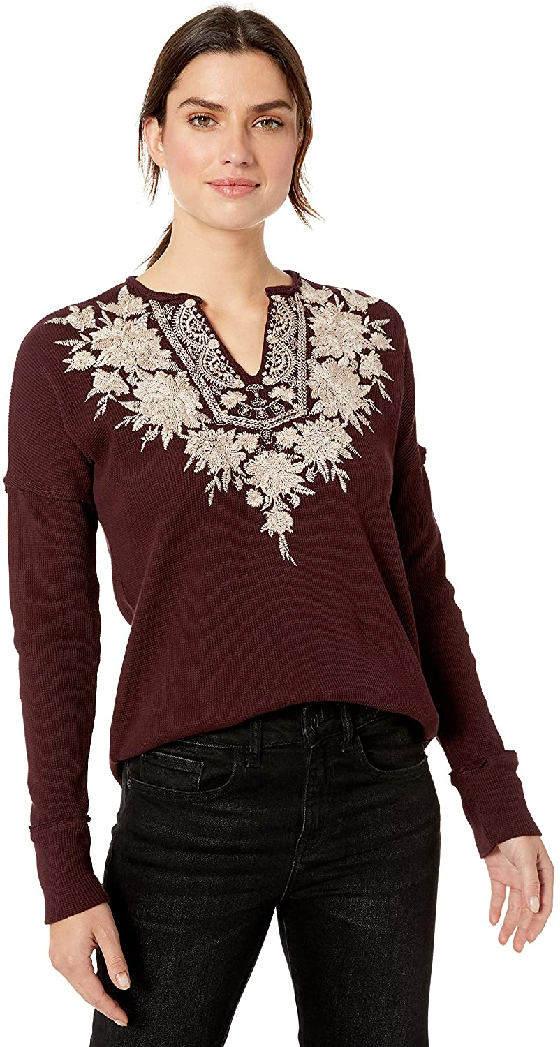 JWLA By Johnny Was Women's V-Neck Thermal