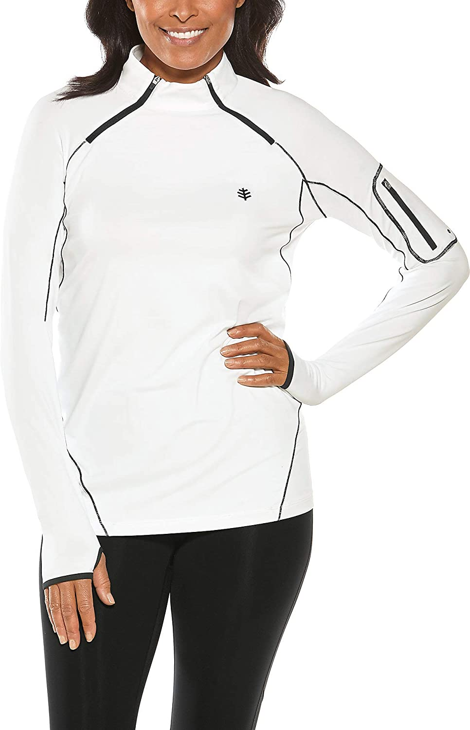 Coolibar UPF 50+ Women's Geneva Quick-Zip Rash Guard - Sun Protective