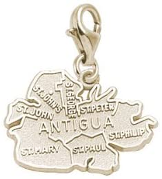 Rembrandt Charms Antigua Charm with Lobster Clasp, 10K Yellow Gold