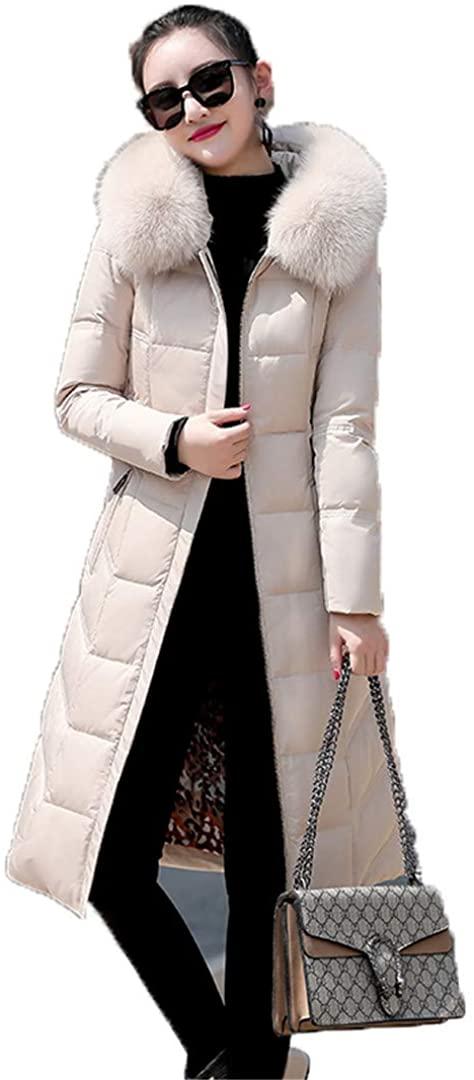 Real Fox Fur Collar Down Jacket Woman Hooded Winter Duck Down Coat Women Winter Long Coat Parkas