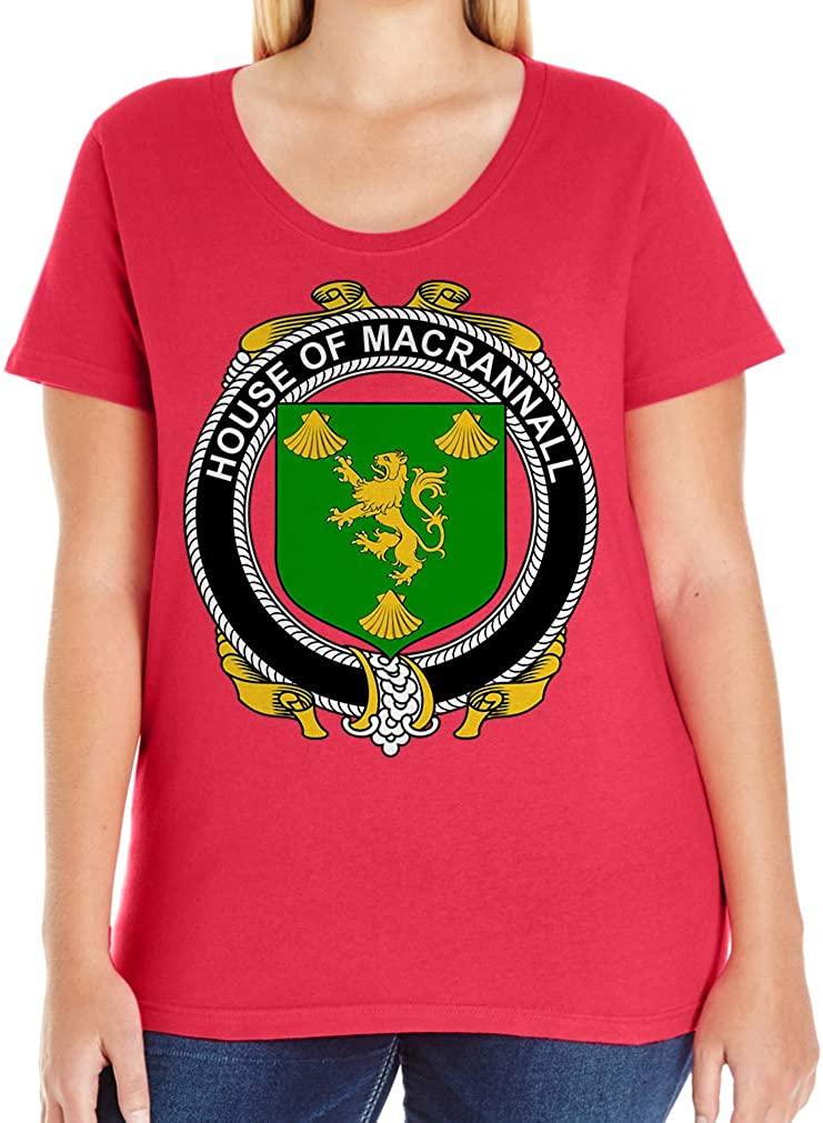 Tenacitee Women's Irish House Heraldry Macrannall T-Shirt