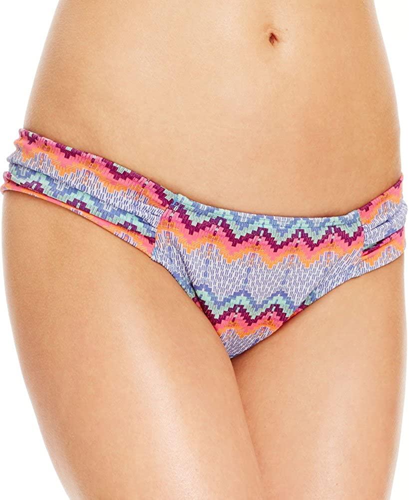 Roxy Blue Multi Juniors Printed Side-Tab Bikini Bottom L