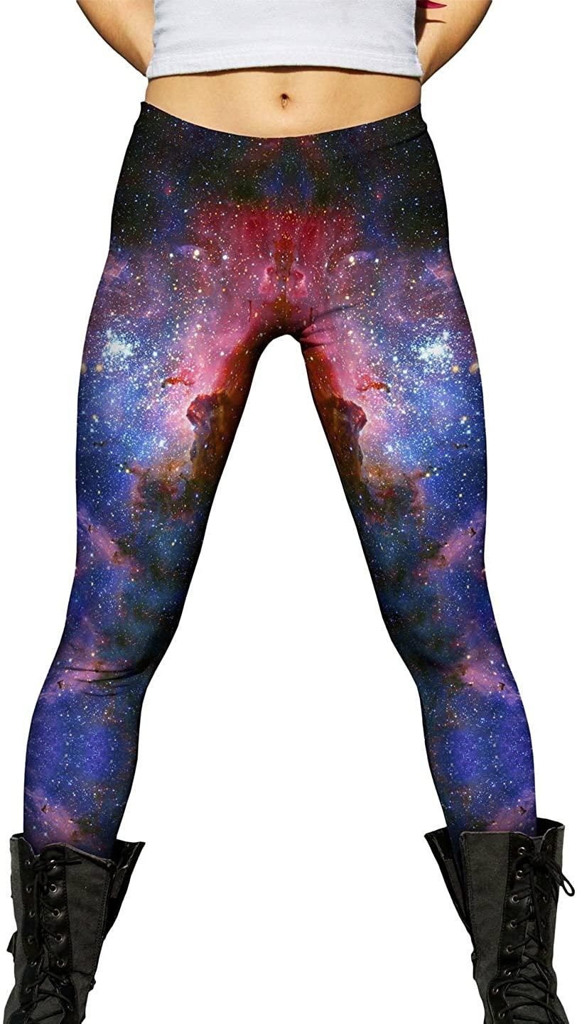 Yizzam- Carina Nebula Space Galaxy- Ladies Womens Leggings