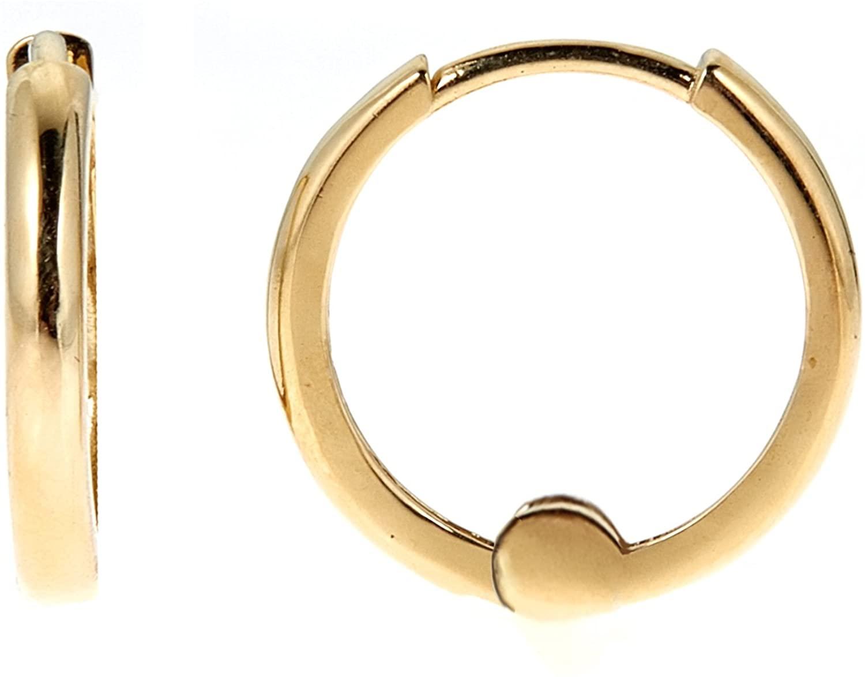 Ritastephens 14k Real Yellow, White, or Rose Pink Gold Huggie Hoops Earrings (Mini or Small)