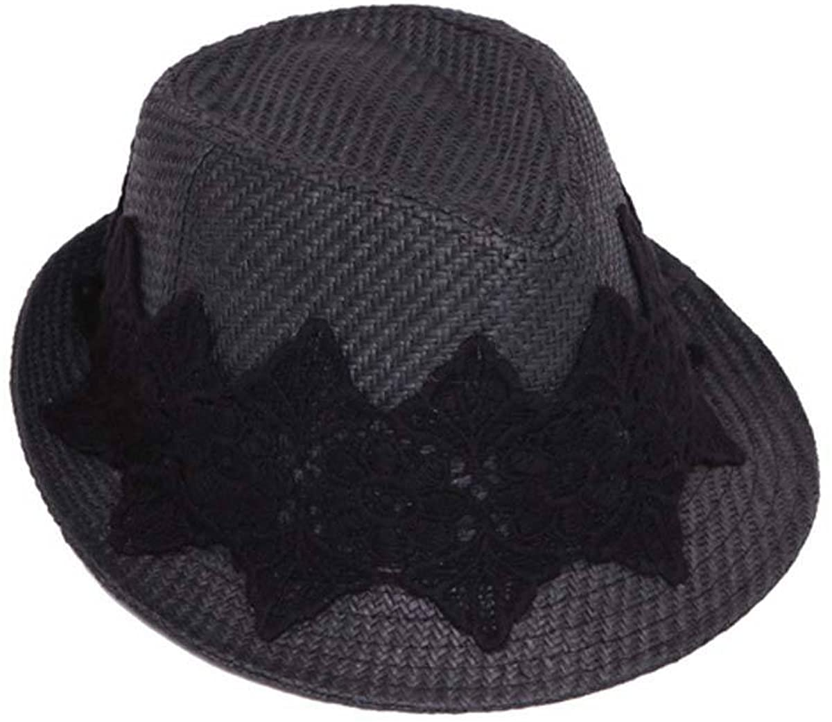 ChicHeadwear Womens Fedora Hat w/Floral Lace Band