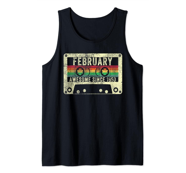 February 1950 70th Birthday Gift Vintage Retro Legend Born Tank Top