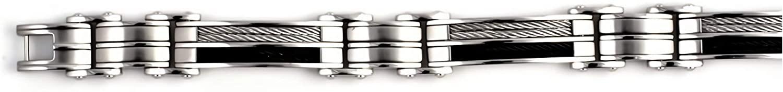 Glitzs Jewels Premium Stainless Steel Bracelet for Men and Women | Jewelry Gift