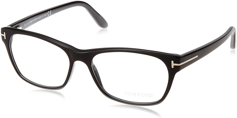 TOM FORD Women's TF 5405 001 Shiny Black Clear Butterfly Eyeglasses 54mm