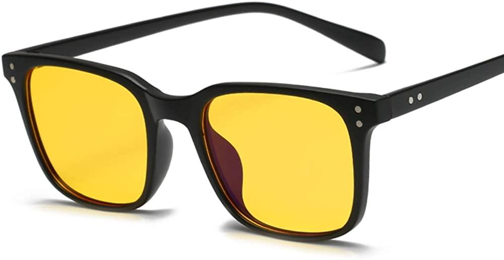 Unisex Glasses Frame Retro Yellow Oval Full Frame Decoration Prescription Glasses