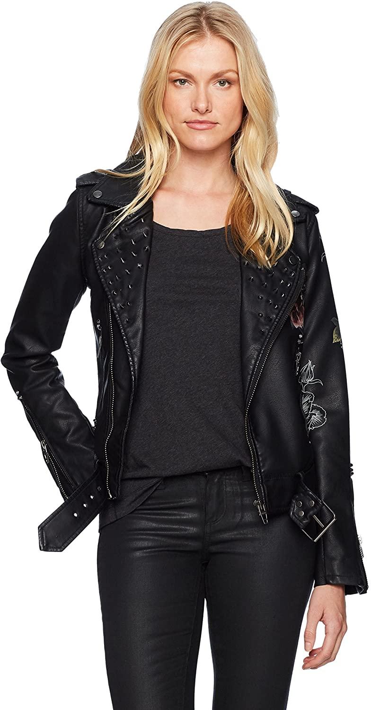 [BLANKNYC] Womens Floral Moto Jacket