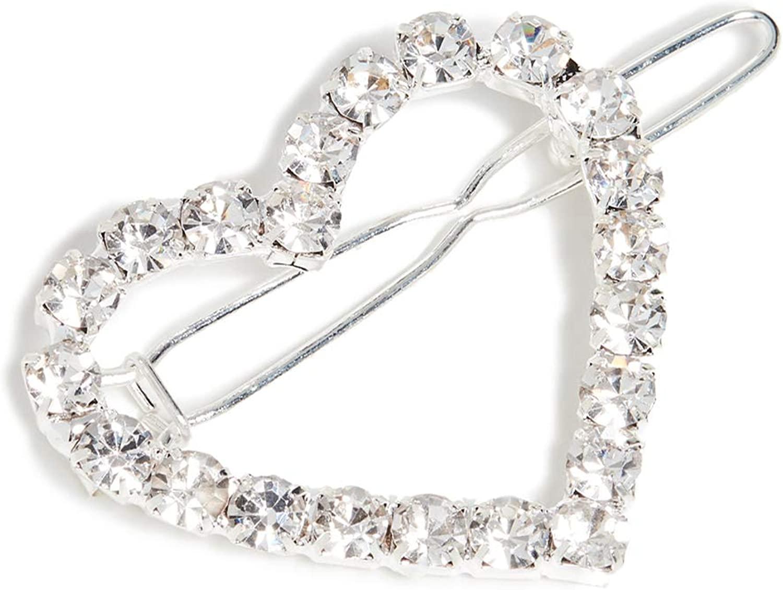 Shashi Womens Heart Diamond Clip, Crystal, Clear, One Size