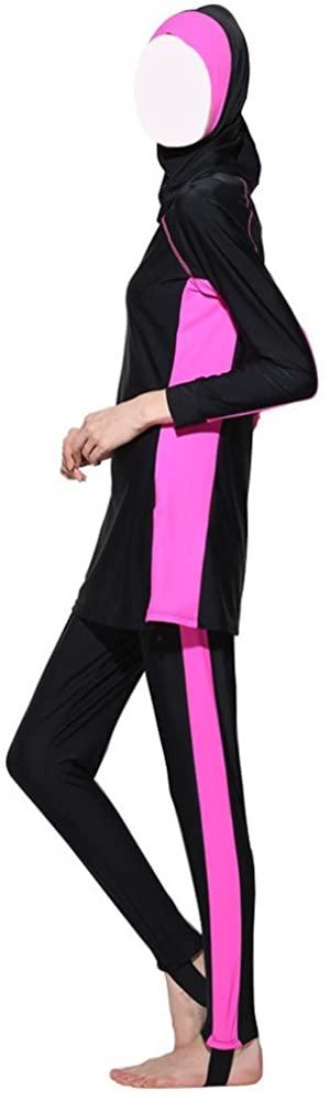 ZS ~ Hijab Detachable Muslim Swimsuit Islamic Modest Swimwear Beachwear Burkini Burqini