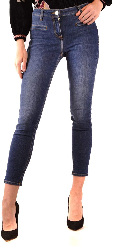 ELISABETTA FRANCHI Luxury Fashion Woman MCBI38537 Blue Elastane Jeans | Season Outlet
