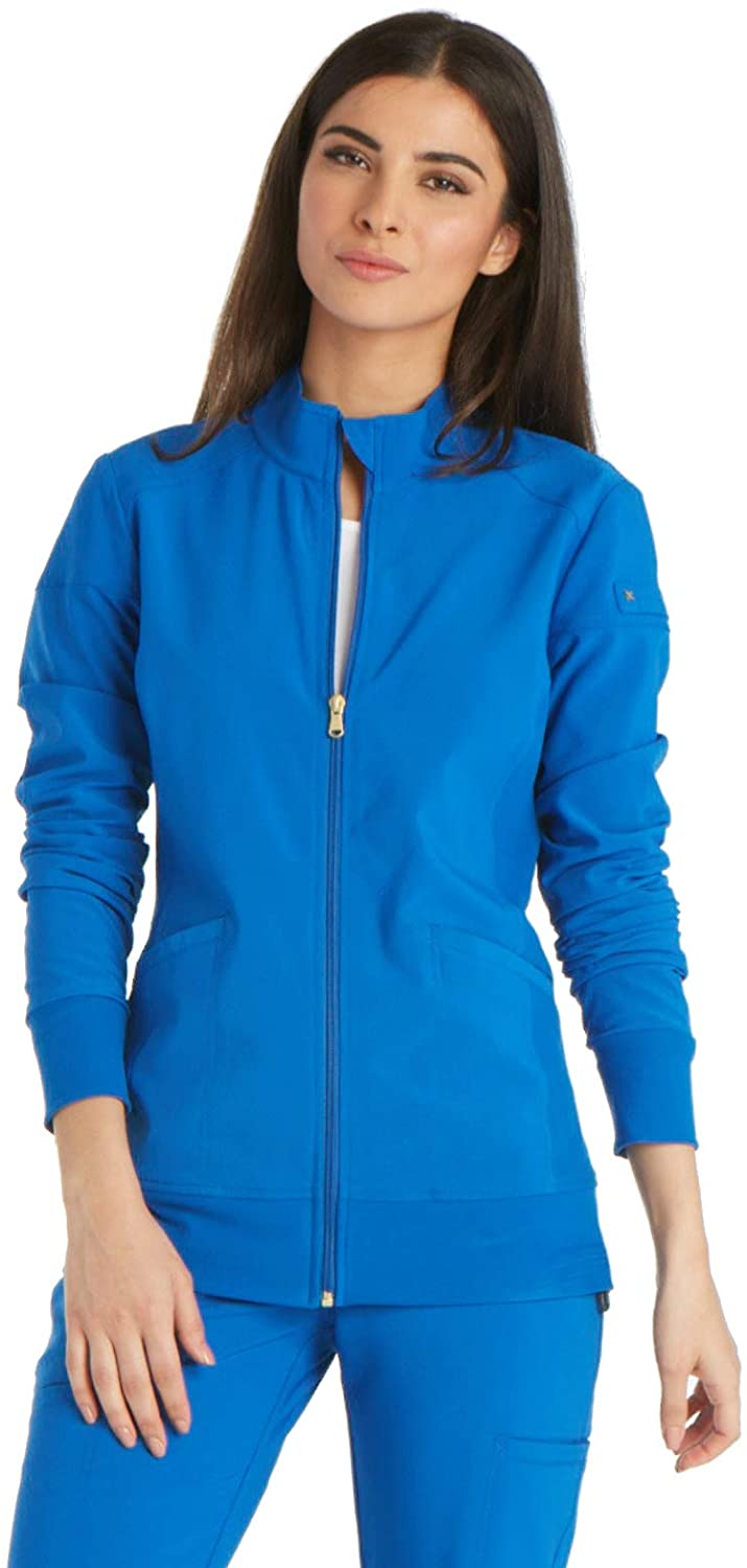 Cherokee iFlex CK303 Zip Front Warm-Up Jacket Royal XXS