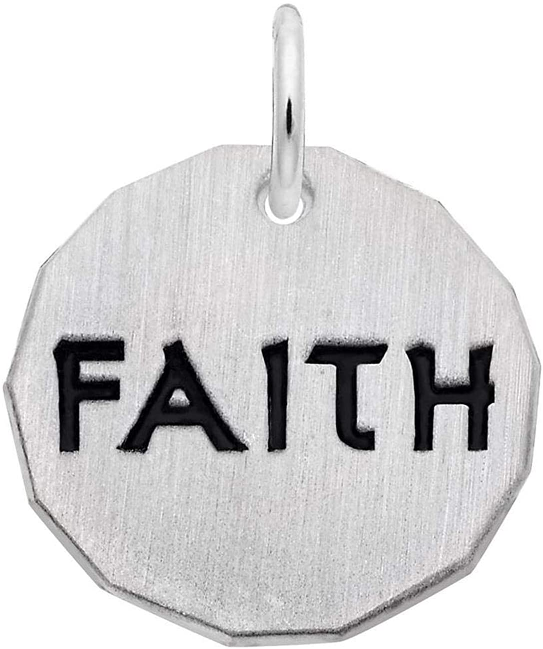 Rembrandt Charms Sterling Silver Faith Charm Tag