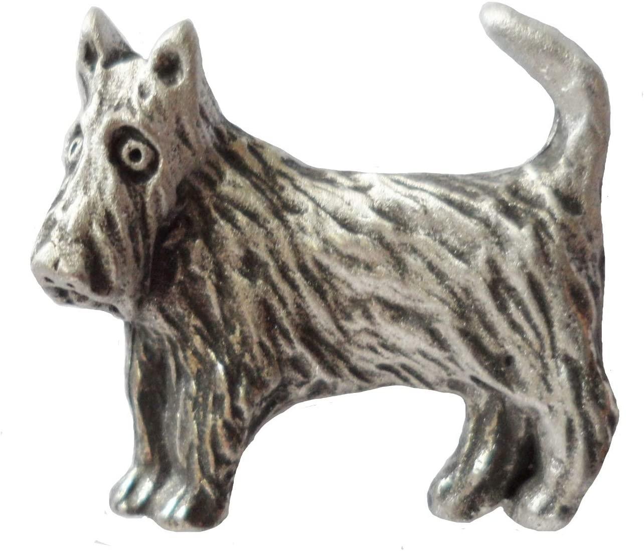 1000 Flags Scottie Dog Scottish Terrier Pewter Pin Badge