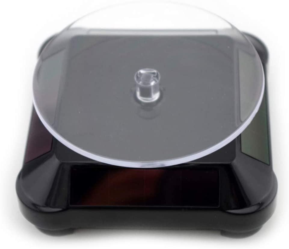 OUDIS CORPORATION Solar Power 360 Degree Turntable Jewelry Jade Bracelet Bracelet Display Stand Tray