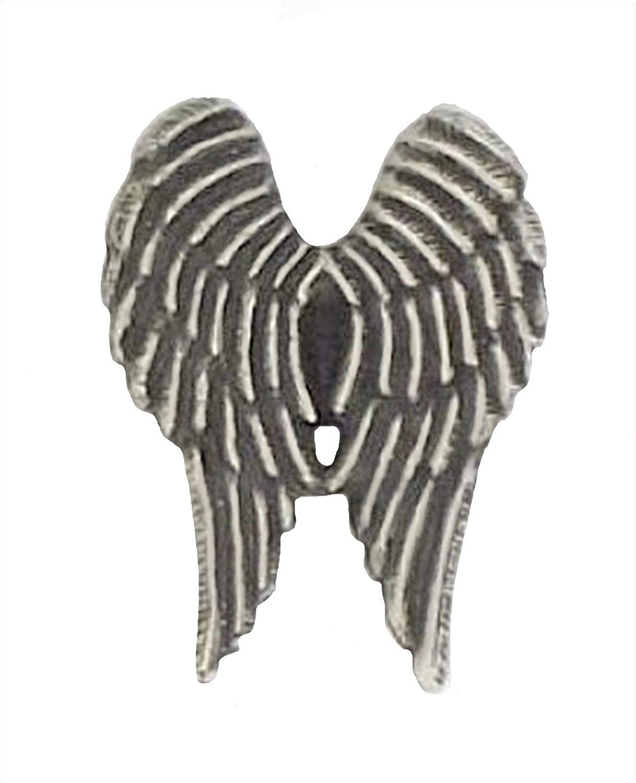 1000 Flags Angel Wings Pewter Pin Badge