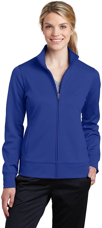 Sport-Tek Women's Sport-Wick Fleece Full-Zip Jacket LST241 True Royal Medium