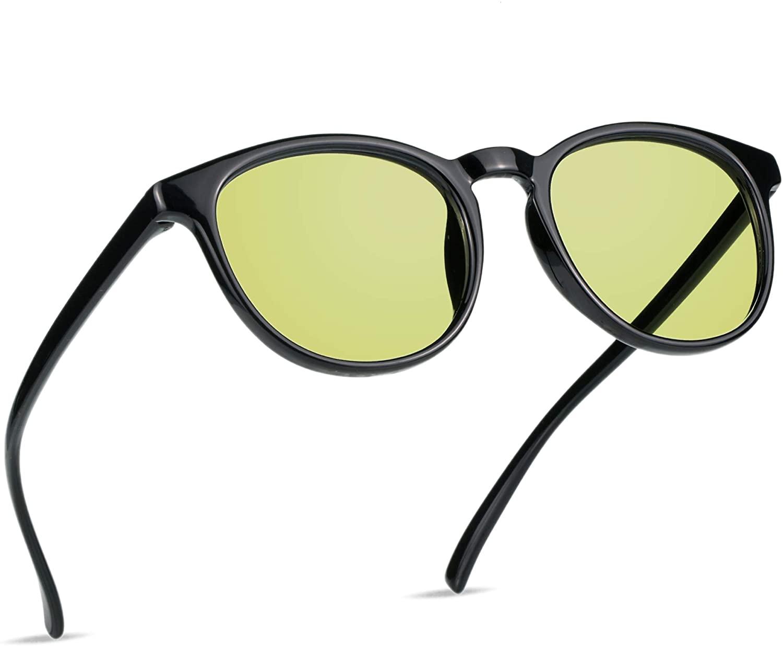 VisionGlobal Blue Light Blocking Glasses,Amber Tint Lens for Digital Eye Strain Prevention