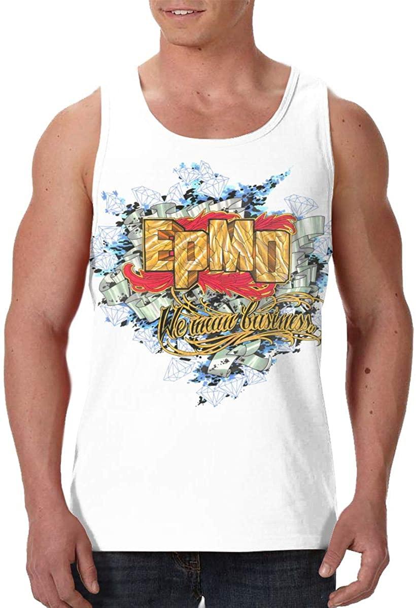 KisdFinda EPMD Men's Casual 3D Printed Vest Sleeveless T-Shirt
