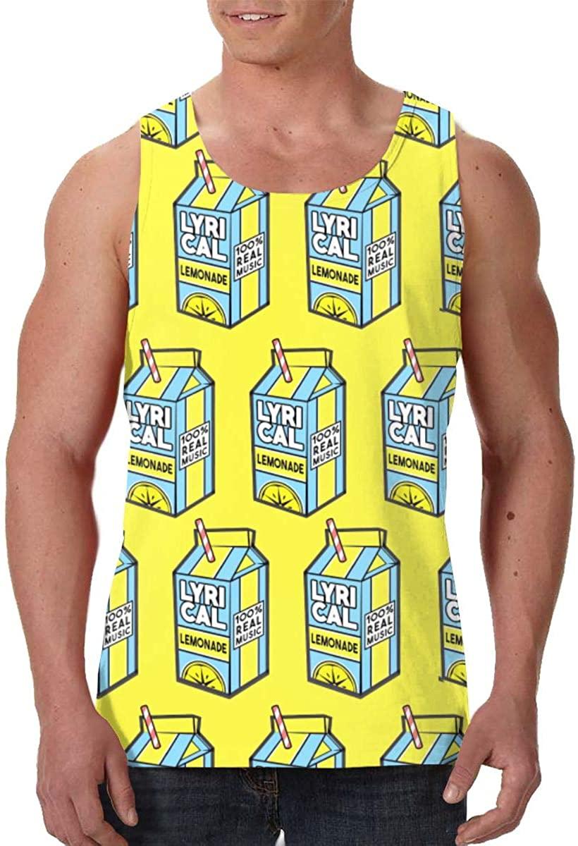 Unty Lyr-ical Lemo-nade 3D Printing Vest Singlet Men Tank Top Comfortable Sleeveless Tshirt Tanks