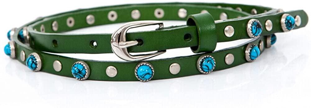 Ladies Rivet Belt,Stylish Wild Belt Decoration Dress Jeans Belt