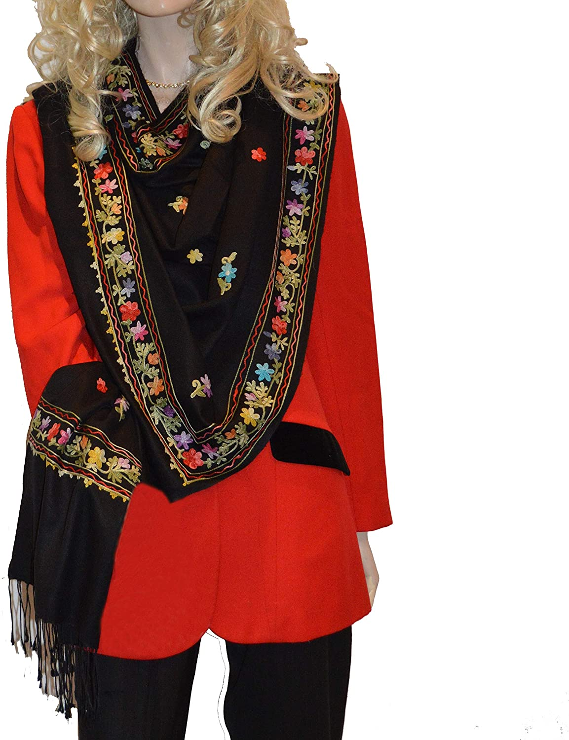 Scarf/Scarves/Shawl/Shawl with Crewel/Ari Embroidery-Cashmere Pashmina Group